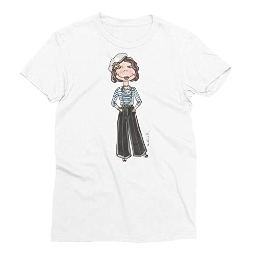 5e8dd1c9ea3c8 Amazon.com: Little Coco Chanel Women's Short Sleeve T-shirt: Handmade