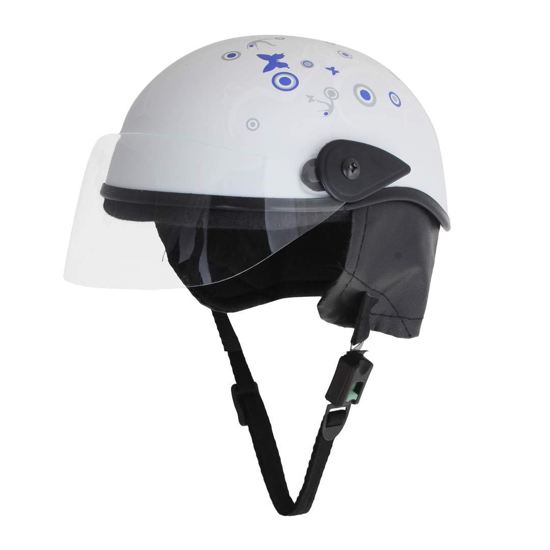 Sage square scooty half helmet for men women medium white glossy sticker design 2 amazon in car motorbike