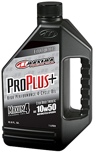 (Maxima Racing Oils 30-19901 Pro Plus+ 10W-50 Synthetic Motorcycle Engine Oil - 1 Liter)
