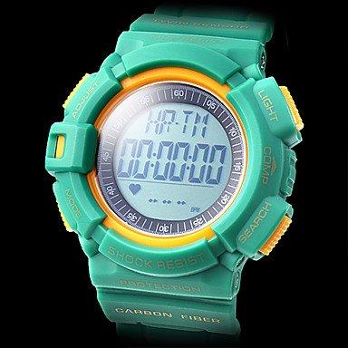 antigolpes Pulso Reloj banda de goma reloj de pulsera digital con podómetro (Varios Colores)