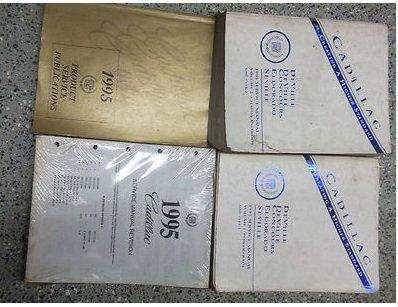 1995 CADILLAC DeVille Seville Eldorado Service Shop Repair Manual Set FACTORY (2 volume set, product service publications manual, and the service manual revisions)