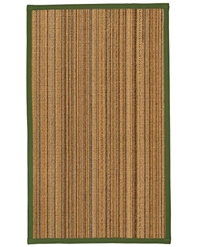 NaturalAreaRugs Boardwalk Sisal Area Rug 12' by 15' Green Border