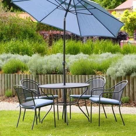 Nuevo Lujo Verano muebles de jardín mesa y sillas con sombrilla: Amazon.es: Hogar