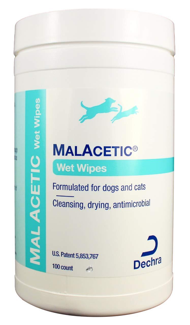 Malacetic Wet Wipes Dry Bath 5'' x 7'' Wipes 100ct by Dechra