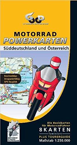Motorrad Powerkarten Süddeutschland und Österreich 1 : 250 000. Powerbox: Plus Elsass / Vogesen. 8 laminierte Kartenblätter plus Tourerguide. ... und wieder abwischbar + Tourerguide)