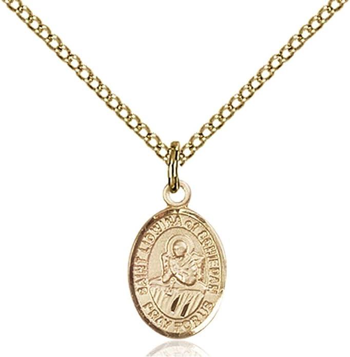 DiamondJewelryNY 14kt Gold Filled St Christopher//Dance Pendant