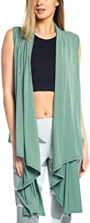 product image for Onzie Final Sale Hot Yoga Sleeveless Cardigan 3123 Sage