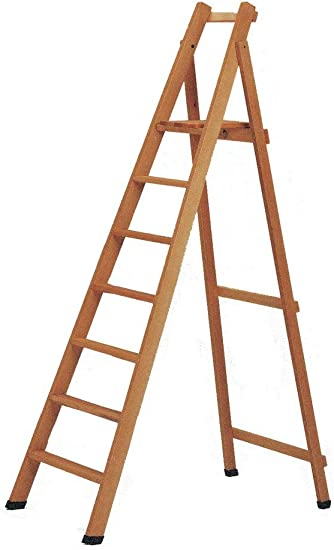 1 escalera de madera de 6 peldaños.: Amazon.es: Bricolaje y herramientas