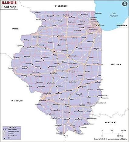 Amazon.com : Illinois Highway Map ( 36\