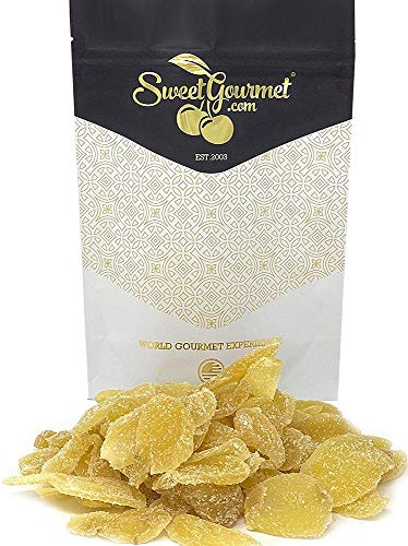 SweetGourmet Candied Dried Crystallized Ginger Root Slices   1 Pound