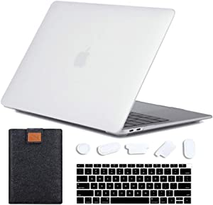 MAITTAO for MacBook Air 13 inch Case with Laptop Sleeve & Keyboard Cover & Dust Plug - Plastic Hard Shell Case for MacBook Air 13.3 Released in 2020 2019 2018 Model A2337 A2179 A1932, Matte Clear