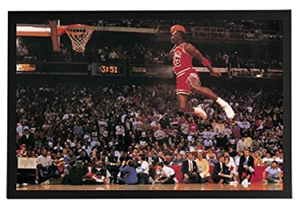 0d3dee1cfbb Amazon.com: Michael Jordan - Dunking Framed Poster Print 36x24 on a ...