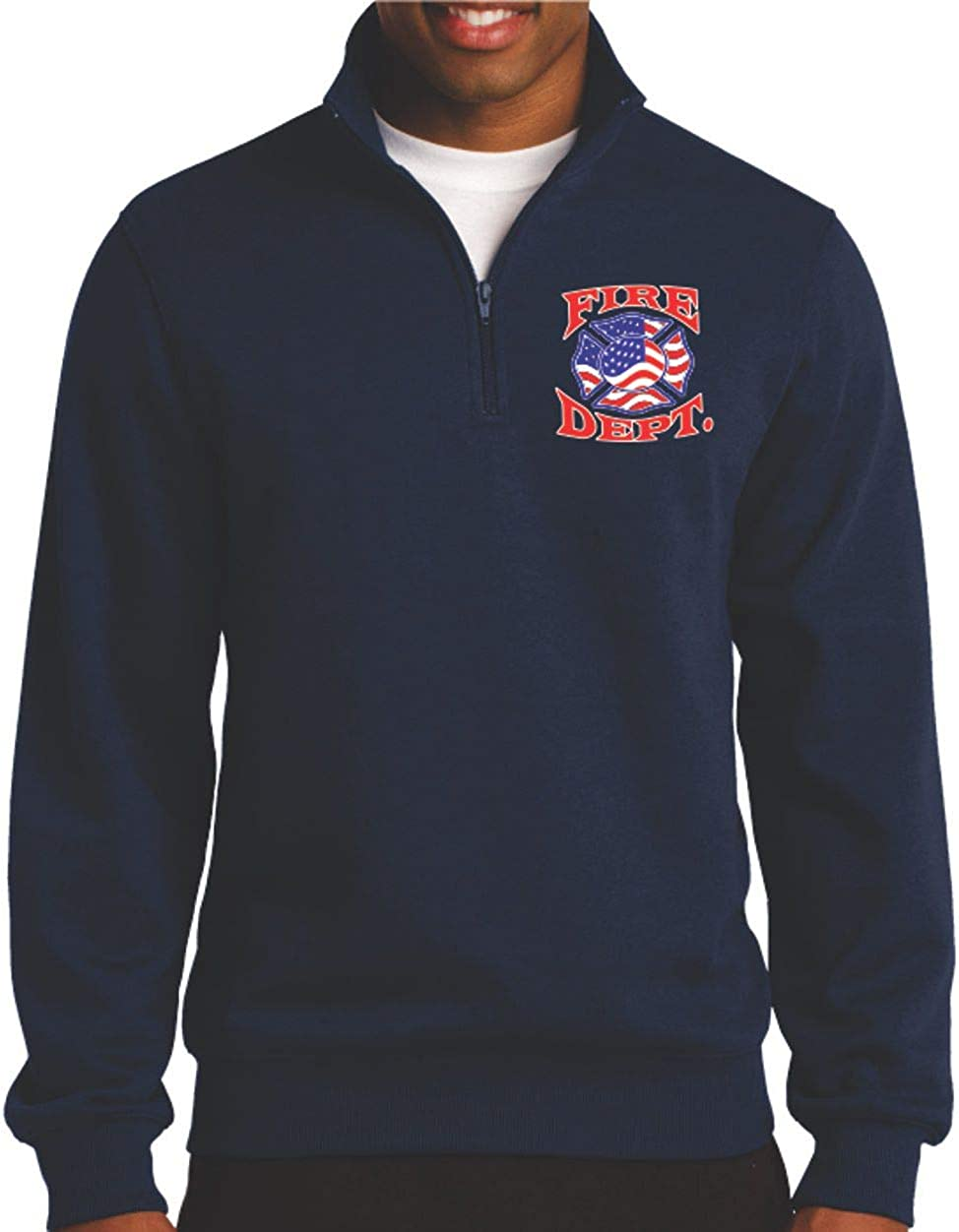 Sport-tek 1//4 Zip Premium Fleece W//firefighter Print