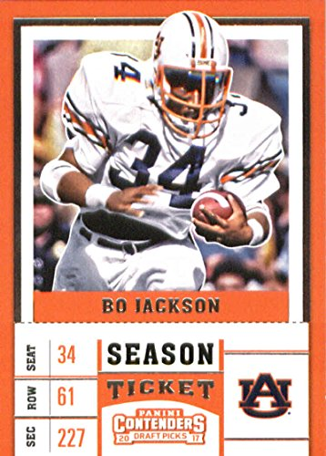 Tickets Tigers Football (2017 Panini Contenders Draft Picks Season Ticket #13 Bo Jackson Auburn Tigers Football Card)