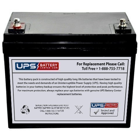 12V 60AH Group 34 Replacement Battery For Communication Systems