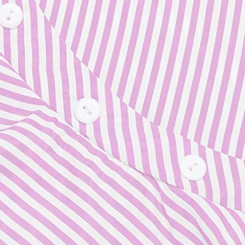 SamMoSon Camicetta Collo Rosa Farfalla Casuale Ragazzi Camicetta nbsp; Casuale Maglietta Ruffles Ragazzi nbsp; Neonato V Blusa nbsp; Gessato Tshirt Top Manica Bambino AqHUzrA1