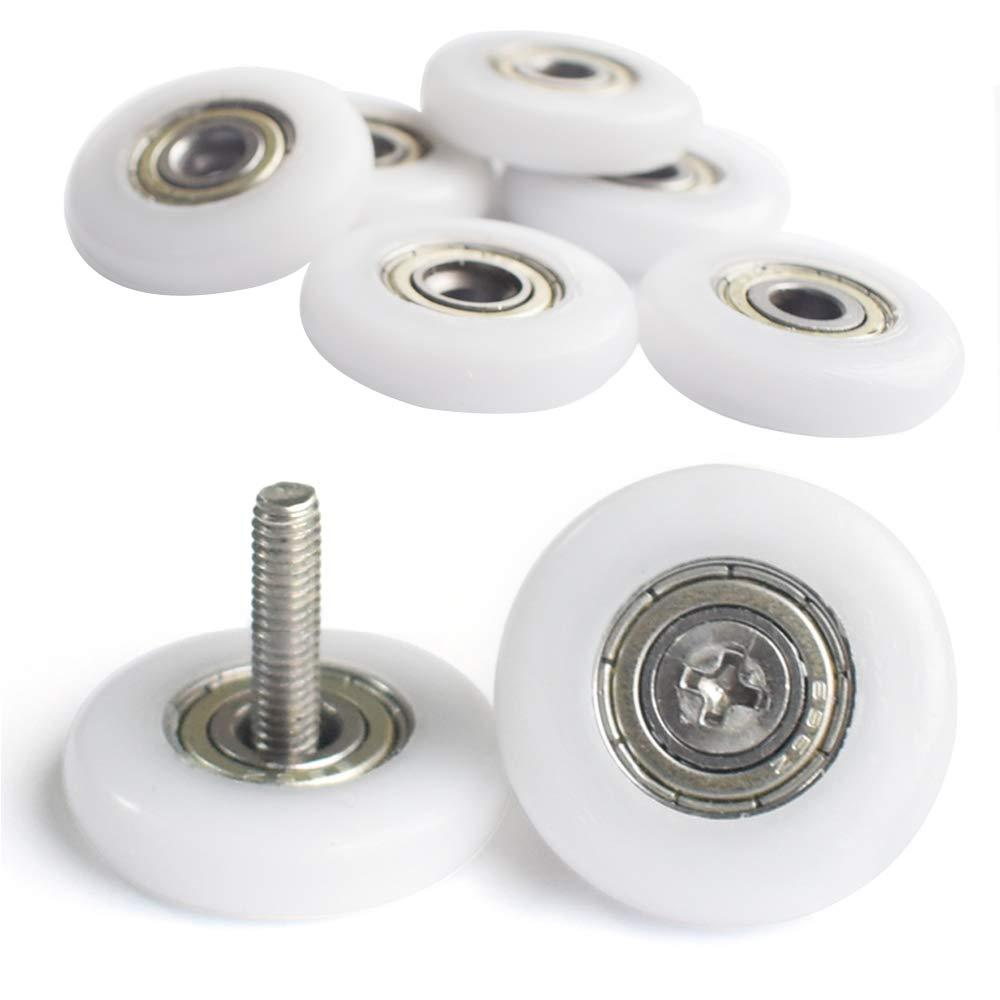 ruedas de mampara de ducha 19 mm Ruedas de ducha para puerta de ducha 8 unidades con tornillos YUANQIAN