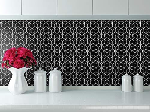STICKGOO Peel and Stick Backsplash Tile, Stick on Wall Tiles, Self Adhesive Kitchen&Shower Backsplash (Pack of 6, Thicker Design) ()