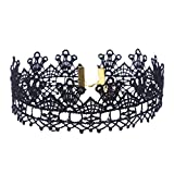 Gotd 8 Pieces Choker Necklace Set Stretch Velvet Classic Gothic Tattoo Lace Choker