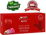 Rose Fragrance 100% Natural Incense Sticks Handmade Hand Dipped The Best Scent (500 (100×5 Incense Sticks))