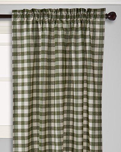 Achim Home Furnishings Buffalo Check Window Curtain Single Panel, 42