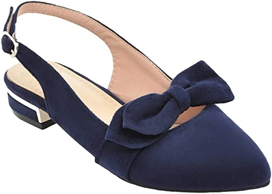 Chaussures /à Talon Classics Espigones avec des Boucles Et Escarpin Ouvert Derriere pour Les Femmes Xinwcang Escarpins Femme