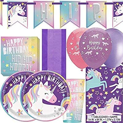 Party Bags 2 Go Unicornio Cumpleaños Deluxe Kit Fiesta para ...