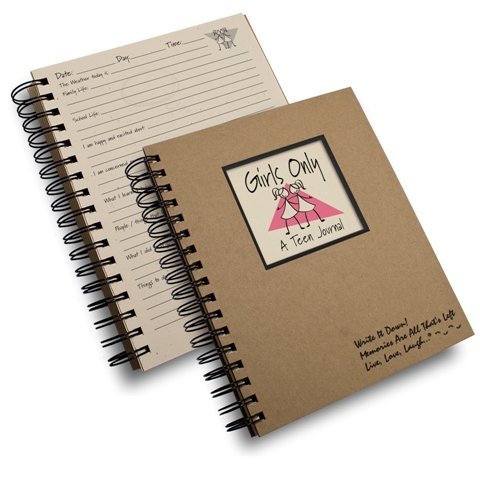 Girls Only, A Teen Journal – Kraft Hard Cover (prompts on every page, recycled paper, read more...)