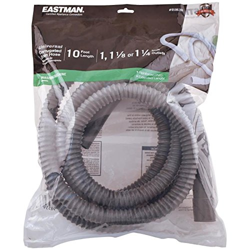 EASTMAN 10-ft L 3/4-in O.D. Inlet x 1-1/4-in O.D. Outlet PVC Washing Machine Drain Hose