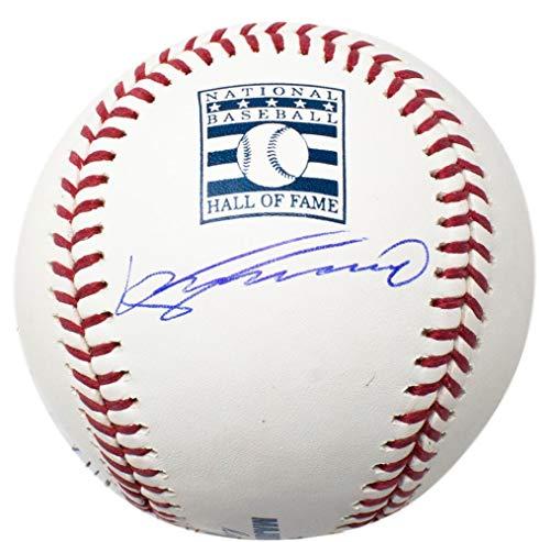 Signed Baseball Guerrero - Vladimir Guerrero Expos Signed MLB HOF Logo Baseball w/Free Ball Cube JSA ITP