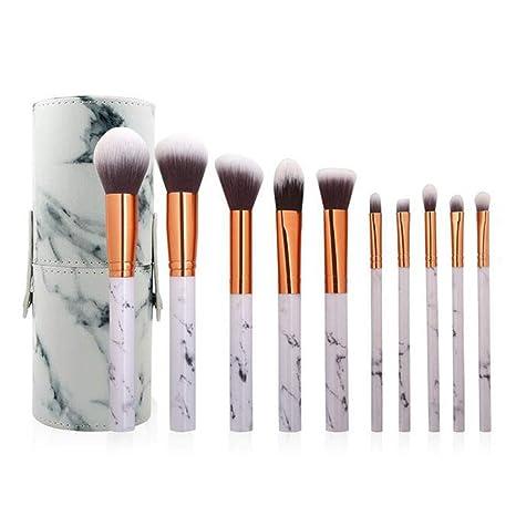 Amazon.com: J&ULIM - Juego de 10 brochas de maquillaje con ...