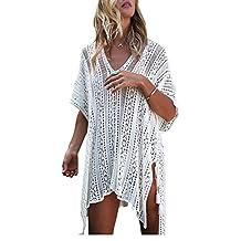 Women's Bathing Suit Bikini Cover-Up Summer Beach Swimwear Crochet Dress