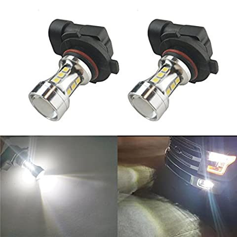 iBrightstar Newest 9-30V Extremely Bright Low Power H10 9145 LED Bulbs with Projector replacement for Fog Lights or DRL, Xenon - 9145 Bulb