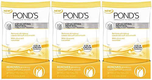 Pond's Towelettes Exfoliating Renewal 28 Count (3 Pack)