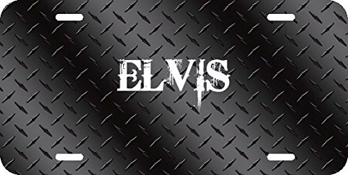 Any and All Graphics ELVIS name on Black Diamond Tread Affect novelty license plate sign ()