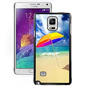 New Personalized Custom Designed For Samsung Galaxy Note 4 N910A N910T N910P N910V N910R4 Phone Case For Beach Umbrella On The Beach Phone Case Cover