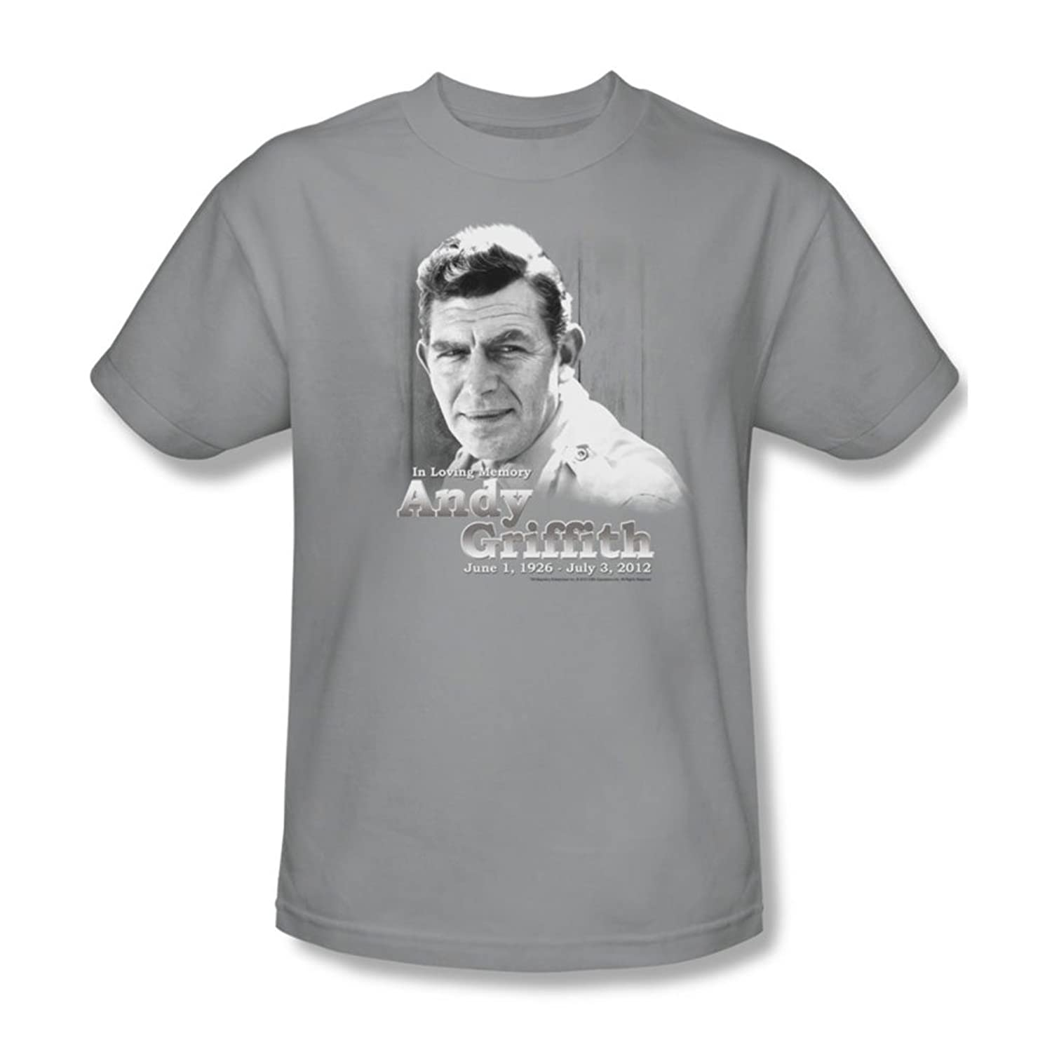 Andy Griffith - Mens In Loving Memory T-Shirt In Silver