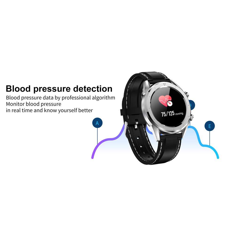 WANGCHAO smart armband, EKG blodtryck syre övervakning vädervisning betalningsfunktion flersportmode kalori fitness vattentät klocka, svart Svart