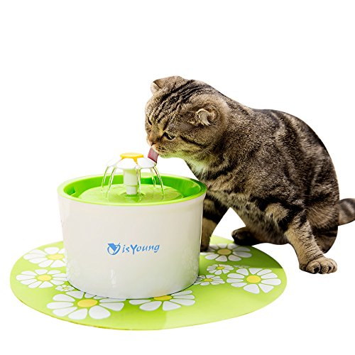 isYoung Pet Fountain Automatic Water Dispenser for Dogs and Cats, Healthy and Hygienic Dog Fountain (Flower Fountain)