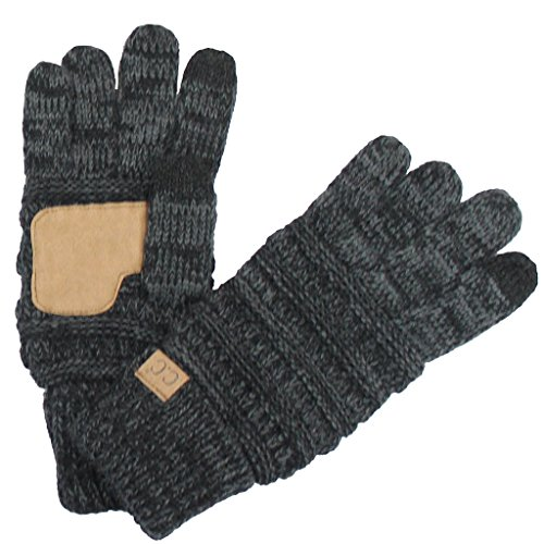 BYSUMMER C.C Smart Touch Tip Cold Weather Best Winter Gloves (Bk/Charcoal) -