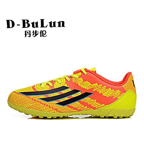 Xing Lin Chaussures De Football Chaussures De Football Pour Enfants Et Femmes Hommes Chaussures Formation Ongle Cassé Filles Garçons Gazon Synthétique Antidérapante Chaussures De Formation, 33, Rouge-