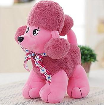 ShireyStore Poodle 33cm Peluches de Felpa Peluches Perros Peluche (Rosa)