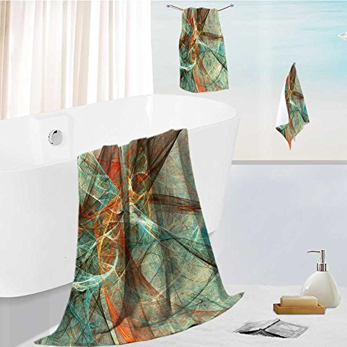 Motion Sleeveless (AmaPark Microfiber Beach Towel Set with Travel Abstract Bright Color Motion Composition Modern Futuristic Dynamic Background Multicolor Artistic Ultra Absorbent Towel for The Beach)