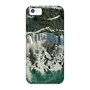 Anti-scratch And Shatterproof Waterfall Aerial View Phone Case For Iphone 5c/ High Quality Tpu Case