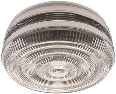 ROYAL COVE 672049 Drum-Style Ceiling Fixture Replacement Glass with Clear Crystal Bottom, 10-1/4 x 4-15/16 In. -