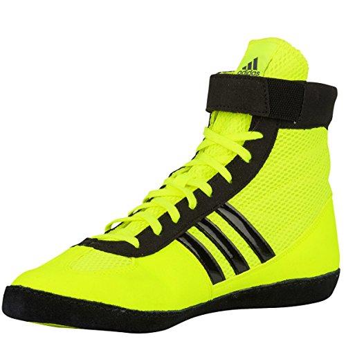 Adidas Wrestling Mens Combat Speed 4 Wrestling Shoe Solar Yellow Black