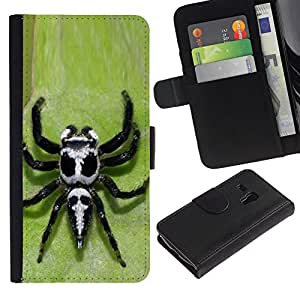 All Phone Most Case / Oferta Especial Cáscara Funda de cuero Monedero Cubierta de proteccion Caso / Wallet Case for Samsung Galaxy S3 MINI 8190 // araña venenosa veneno verde fresco