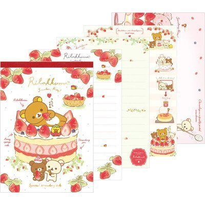(San-X Rilakkuma Strawberry Party design Memo Pad Cake design Mw34201)