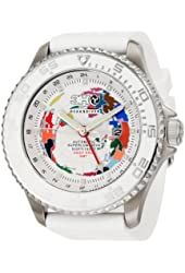 3H Men's GMTS6 GMT52 Globe Dial Automatic Interchangeable Band Watch