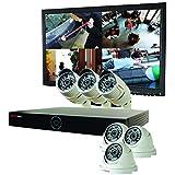 REVO America RG81D3CB3CM22-1T Genesis HD 8 Ch. 1TB NVR Surveillance System with 6 1080p 2MP Cameras (White)